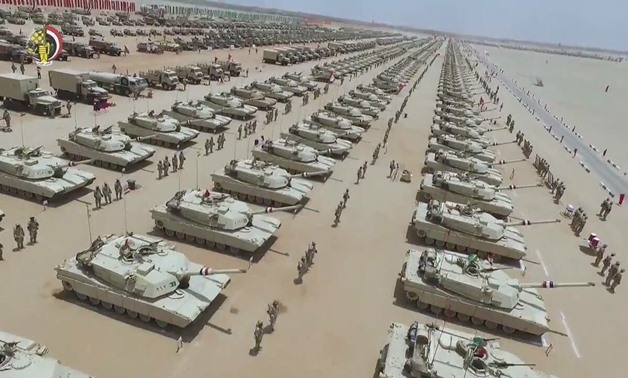 Military tanks of the Egyptian Armed Forces – Courtesy of the Department of Morale Affairs of the Defense Ministry