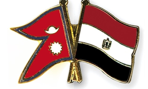 Nepal and Egypt flags crossed - Courtesy to crossed-flag-pins website.