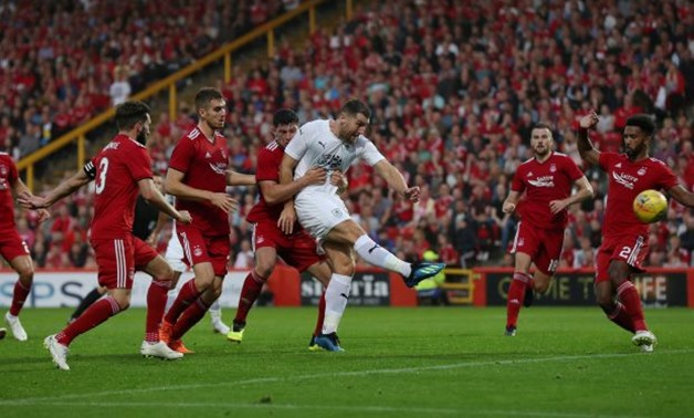 Soccer Football - Europa League - Second Qualifying Round First Leg - Aberdeen v Burnley - Pittodrie Stadium, Aberdeen, Britain - July 26, 2018 Burnley's Sam Vokes scores their first goal Action Images via Reuters/Lee Smith