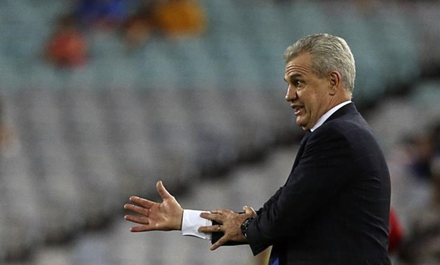 Japan's coach Javier Aguirre gestures during their Asian Cup quarter-final soccer match against UAE at the Stadium Australia in Sydney January 23, 2015. REUTERS/Steve Christo