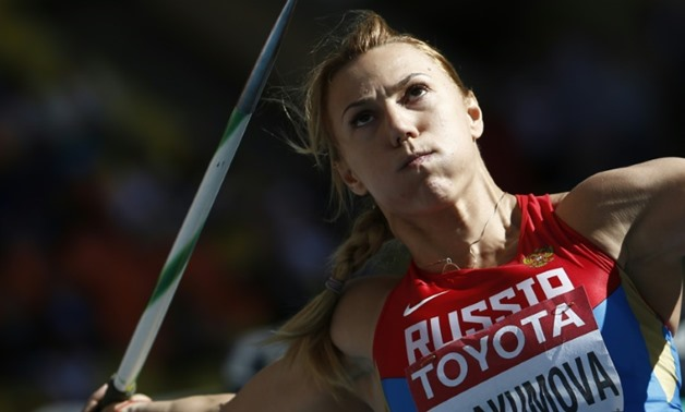 Russia's Maria Abakumova, pictured in January 2015, Tatyana Lebedeva and Ekaterina Gnidenko were banned by the IOC disciplinary committee after re-testing showed they had violated the anti-doping rules