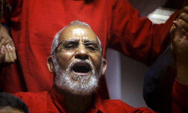 Muslim Brotherhood Supreme Guide Mohamed Badie at a court in 2015 - Reuters
