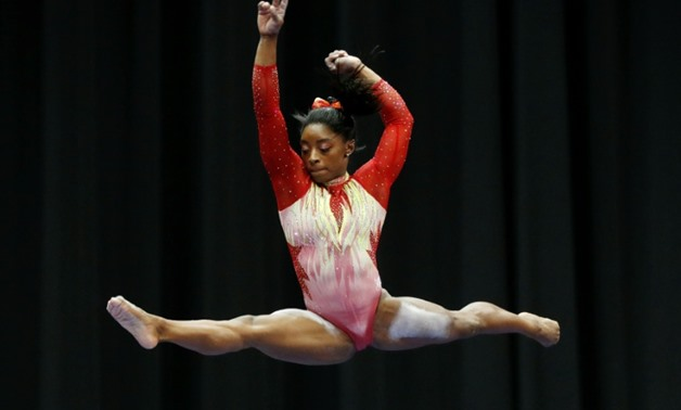Simone Biles, who tied an Olympic record with five medals, four of them gold, at the Rio Games, hadn't competed since 2016 and she showed some signs of nerves