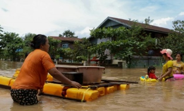 © AFP/File | Evacuation orders are still in place for many flood-stricken areas with a number of rivers exceeding danger levels by several feet