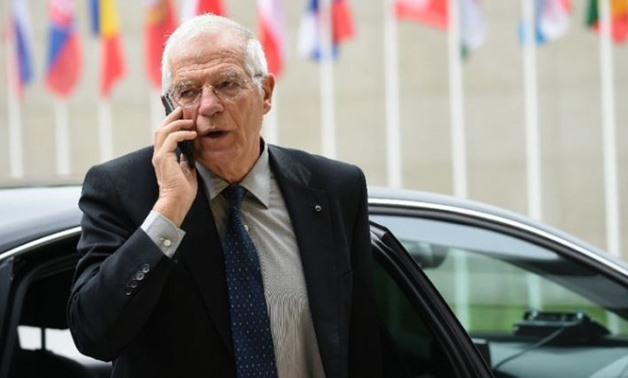 FILE- Spanish politician Josep Borrell takes part in a pro-unity demonstration in central.