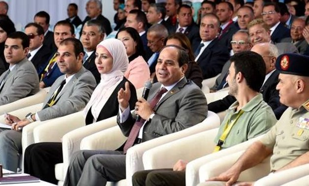 FILE: President Abdel Fatah al-Sisi during the Sixth National Youth Conference