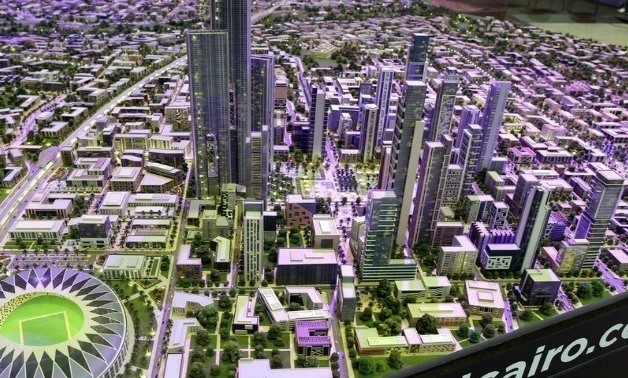 Model of Egypt's New Administrative Capital city - File