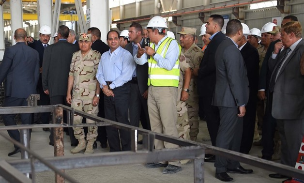 FILE- President Abdel Fatah El Sisi  inspected the Suez Canal tunnels projects in 2016 - press photo