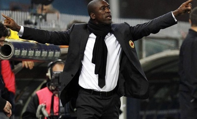 Seedorf gestures during their Italian Serie A soccer match against Genoa at the Ferraris stadium in Genoa April 7, 2014. REUTERS/Alessandro Garofalo.