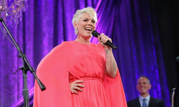 Pink , 7 Aug. 18, AFP/GETTY IMAGES NORTH AMERICA/AFP / Chelsea Lauren