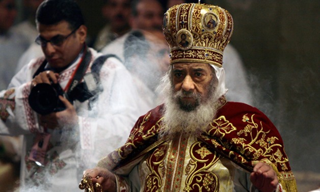 FILE - Late Pope Shenouda III of Alexandria