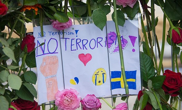 The day after the terrorist attack in Stockholm in April 2017.- CC via Wikimedia
