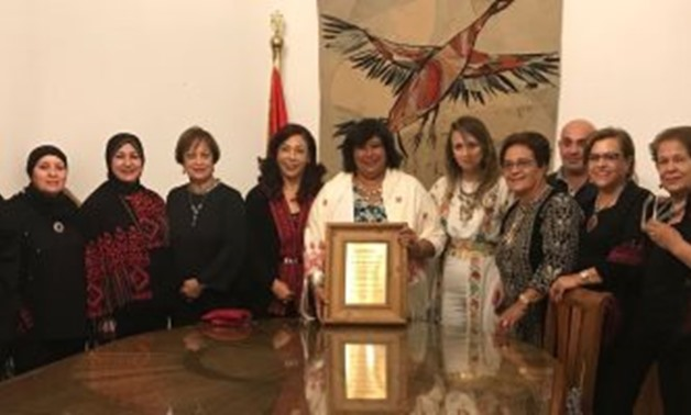 Part of the meeting with the Minister of Culture, Aug. 8 – Egypt Today