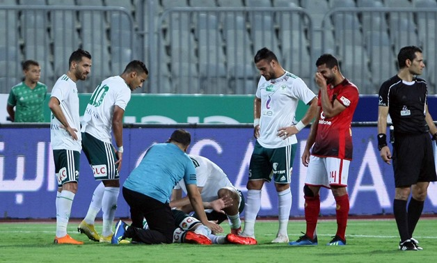 Salah suffered a serious injury during Al-Ahly clash - Egypt Today/Ahmed Maarouf