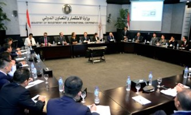 During the meeting - Press Photo
