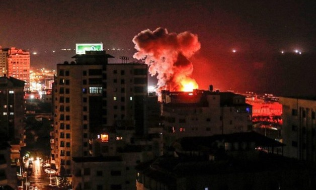 Gaza in flames after IDF attacks on early Thursday on Aug. 9, 2018 – Source: israelpalestine.liveuamap