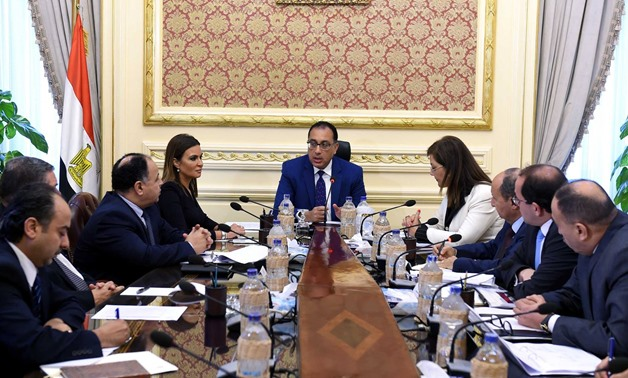 Prime Minister Mostafa Madbouli with the ministerial economic committee to discuss Egypt's public debt on August 10, 2018 - Press photo/Cabinet official page