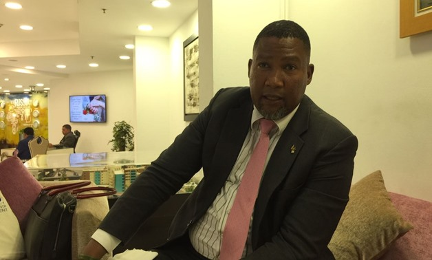 The grandson of Nelson Mandela, Chief Mandla Mandela, during an interview with Egypt Today on the sidelines of his debut visit to Egypt. Photo by Egypt Today