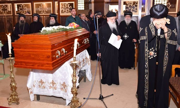 FILE- Pope Tawadros II in the Bishop Epiphanius's funeral - press photo