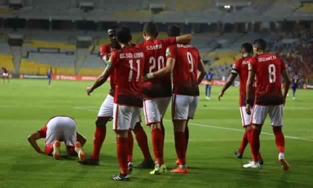 Al-Ahly players celebrate Azarro's goal - Photo courtesy of Al-Ahly official website