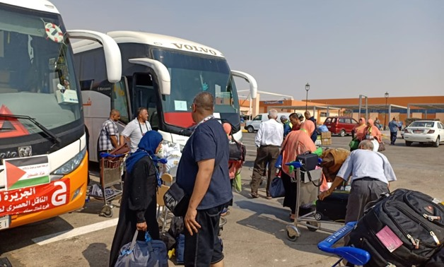 FILE: Palestinian hajj pilgrims arrive to Cairo Airport en route to Mecca