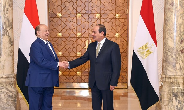 President Abdel Fatah al-Sisi and Yemeni President Abd-Rabbu Mansour Hadi Aug. 13, 2018 - Press photo