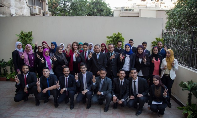 Egyptian young people trained by EFE, December 27, 2017 – Press photo