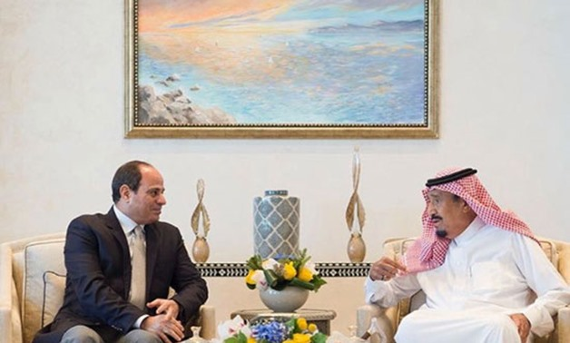 President Abdel Fatah al-Sisi during his meeting with King Salman bin Abdulaziz of Saudi Arabia on Tuesday in the futuristic city of NEOM – Press Photo