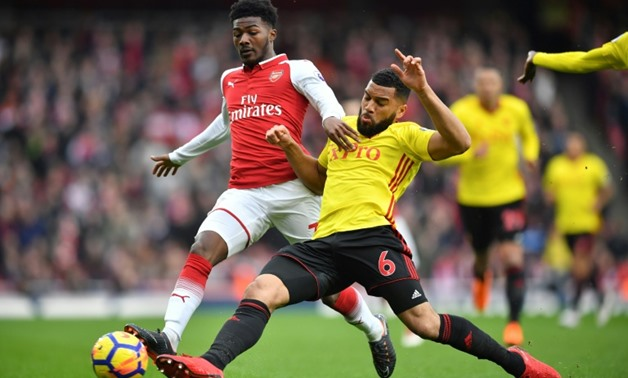 Arsenal's England Under-20 World Cup winning midfielder Ainsley Maitland-Niles will be out for up to two months with a fractured left leg