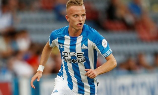 FILE PHOTO: Huddersfield Town's Florent Hadergjonaj at John Smith's Stadium, Huddersfield, Britain - July 25, 2018. Action Images via Reuters/Andrew Boyers