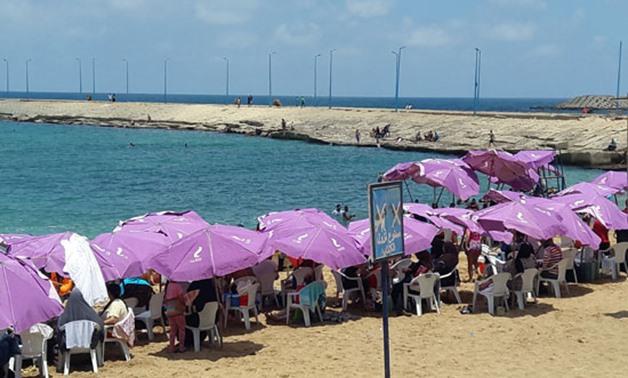 File Photo: Egyptian enjoys beaches during summer.