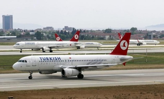 A Turkish Airlines plane prepares to take off at Ataturk International Airport in Istanbul May 15 - REUTERS