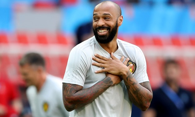 FILE PHOTO: Soccer Football - World Cup - Belgium Training - Spartak Stadium, Moscow, Russia - June 22, 2018 Belgium assistant coach Thierry Henry during training REUTERS/Carl Recine/File Photo