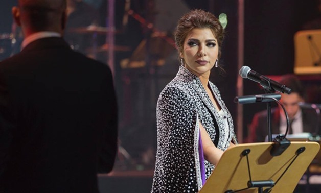 The famed Syrian singer Assala Nasri during her concert in Kuwait in February 2017 – File photo/Facebook official page