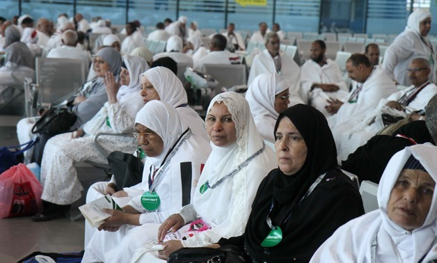 Egyptian pilgrims are waiting for their flight to Mecca and Madinah at the Cairo International Airport- Egypt Today- Hossam Atef