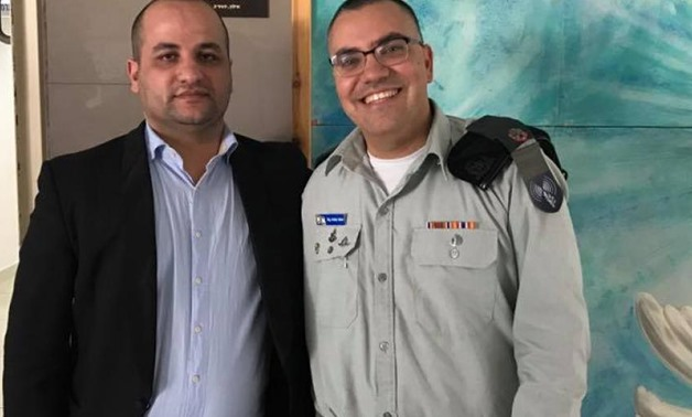 The Jewish journalist Mahdi Majeed with spokesperson of the Israeli army, Avichay Adraee in Tel Aviv in February 2018