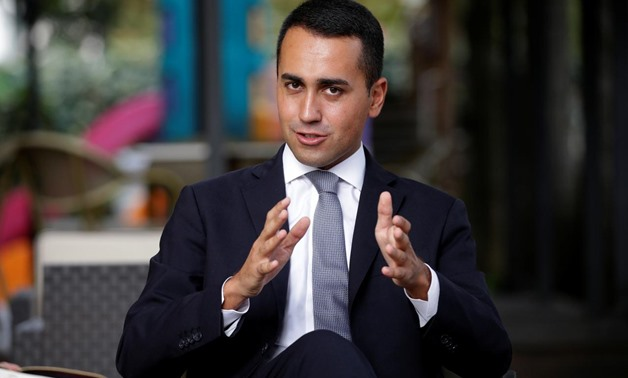 5-Star new leader Luigi Di Maio gestures during an interview with journalists in Rimini, Italy, September 24, 2017. REUTERS/Max Rossi