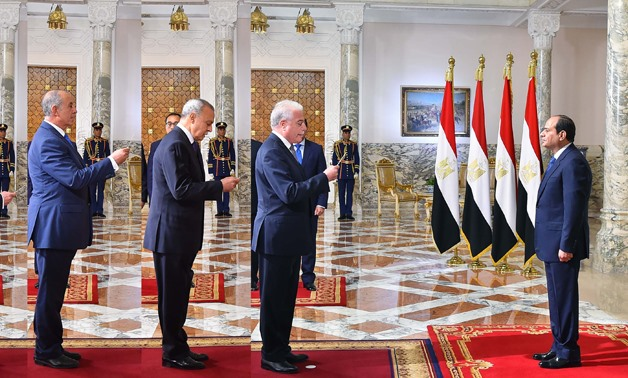 A number of newly-appointed governors swore in before President Sisi- press photo