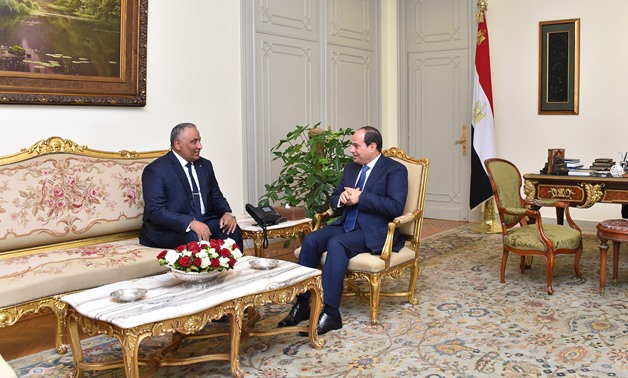 Sherif Seif al-Deen Hussein Khalil (L) and President Abdel Fatah al-Sisi (R) - Press Photo