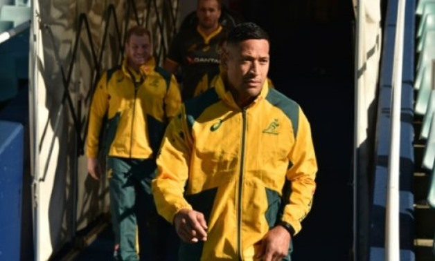© AFP/File | Although rated just a 50-50 chance of starting against South Africa, Israel Folau was back in the squad as the Wallabies search for their first win after back-to-back losses against the All Blacks