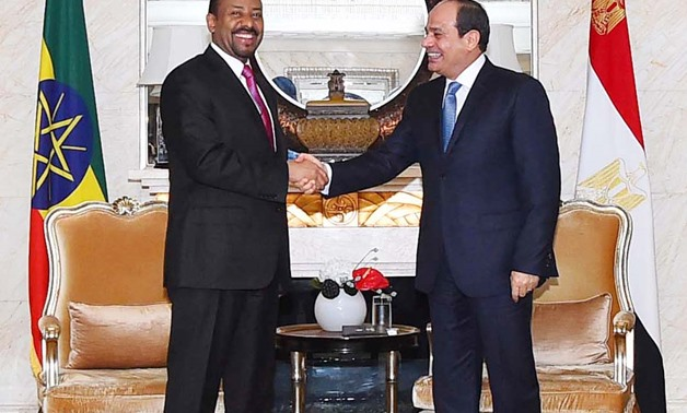 Cover photo – President Sisi (R ) meets with Ethiopian Prime Minister Abiy Ahmed (L) on the sidelines of Beijing-held FOCAC Summit- press photo