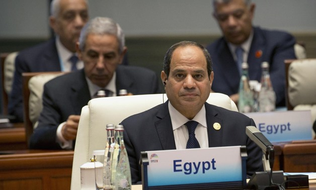 Egypt's President Abdel-Fattah el-Sisi attends the Dialogue of Emerging Market and Developing Countries in Xiamen in southeastern China's Fujian Province, Sept. 5, 2017. REUTERS/Mark Schiefelbein/Pool