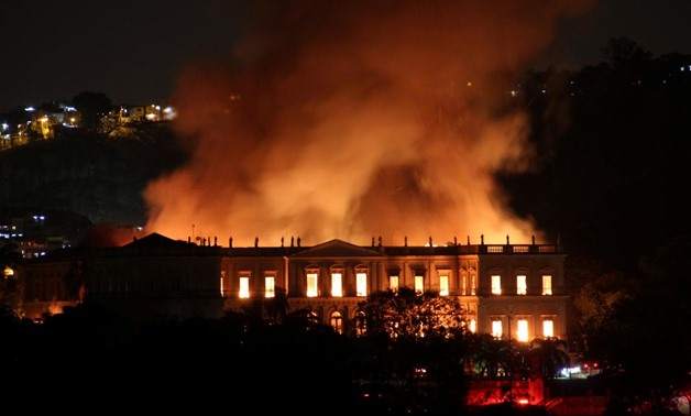 Massive fire tears through Rio's 200-year old National Museum - Reuters
