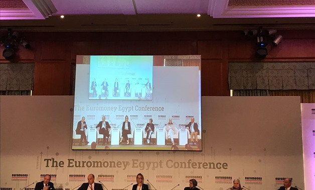 """Building an agile financial sector"" panel at Euromoney Egypt 2018 - Noha Tawil/Egypt Today"