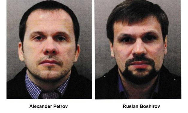 Britain charged two Russians on Wednesday with the attempted murder of a former Russian spy and his daughter, describing the suspects as military intelligence officers almost certainly acting on behalf of the Russian state.