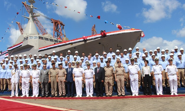 Egyptian Armed Forces at the celebrations of first Egyptian manufactured Gowind-class Corvette on September 7, 2018 - Press photo/Armed Forces Spox