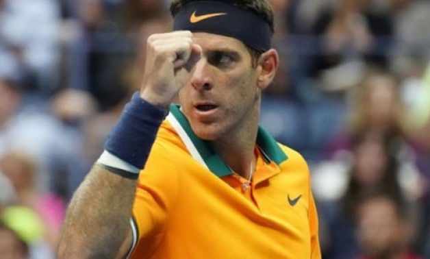 © AFP | Back in the final: Juan Martin del Potro celebrates a point in his semi-final victory over defending US Open champion Rafael Nadal, who retired while trailing in their semi-final.