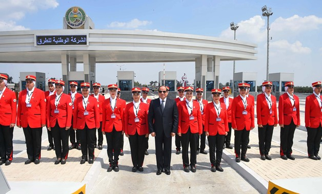 President Abdel Fatah al-Sisi inaugurates road projects on September 9, 2018 - Press Photo