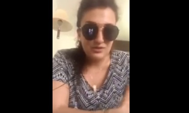 Egypt's security forces arrested a Lebanese woman called Mona al-Mazbouh – A screenshot from Youtube video