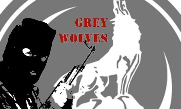 "Logo of a Turkish militant organization ""Grey Wolves"""